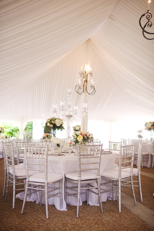 Tent wedding reception - Justine Wright Photography