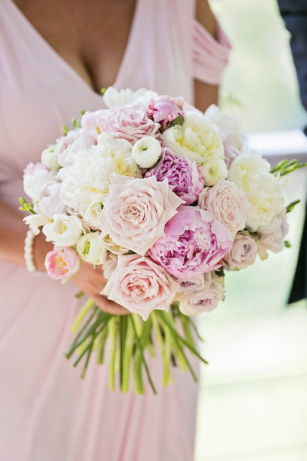 Pink and coral bridesmaid bouquet - Calli B Photography's