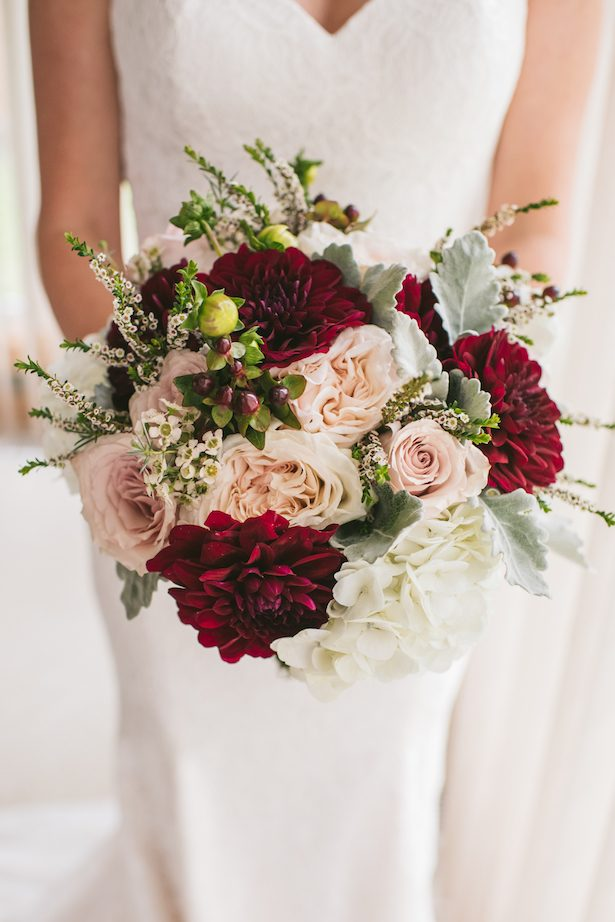 Pink and red wedding bouquet - Manifesto Photography