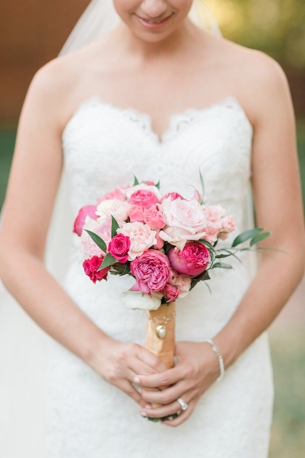 Pink wedding bouquet - Alicia Lacey Photography