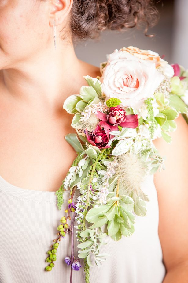 Pink and red wedding flowers - PPD Studios