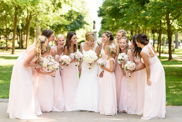 Pink bridesmaid dresses - Katie Whitcomb Photographers