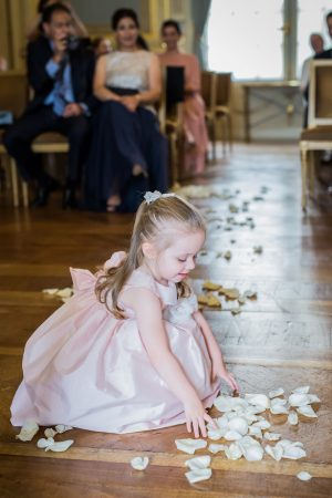 Pink flower girl dress - Pierre Paris Photography