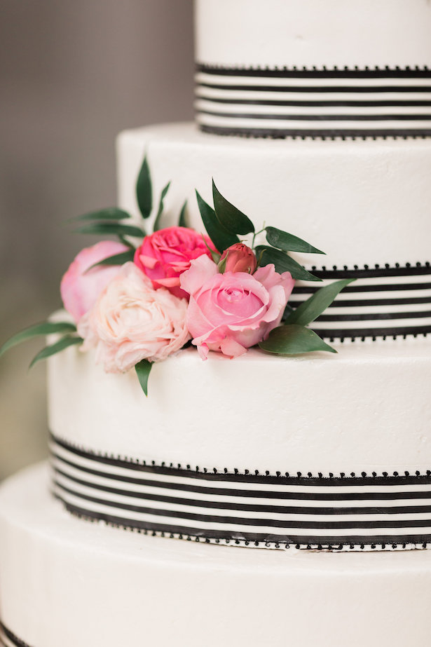 Kate Spade Inspired Wedding Cake - Alicia Lacey Photography
