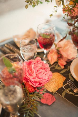 Peonies And Chalkboard Wedding Inspiration Belle The