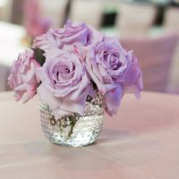 Purple rose wedding centerpiece - Ace Cuervo Photography