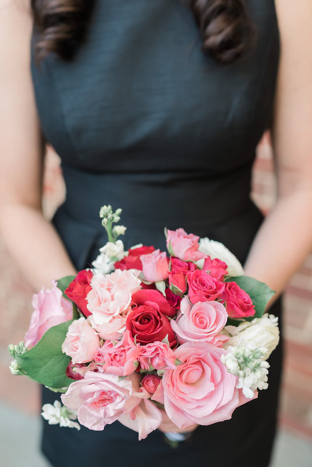 Pink bridesmaid bouquet - Alicia Lacey Photography