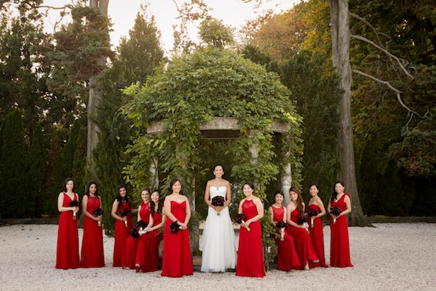 Red bridesmaid dresses - Cody Raisig Photography
