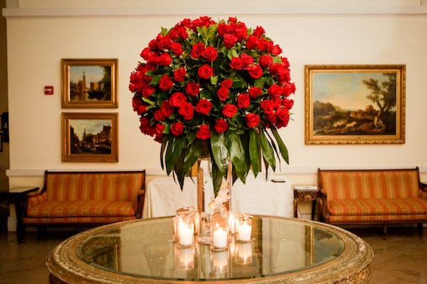 Red roses wedding centerpiece - Cody Raisig Photography