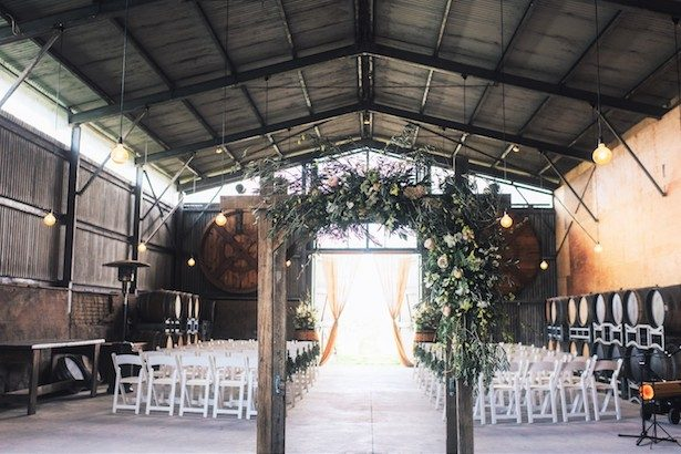 Rustic chic wedding ceremony decor - The White Tree Photography