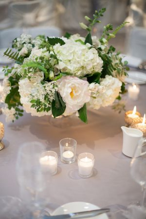 Short floral wedding centerpiece - Erin Johnson Photography