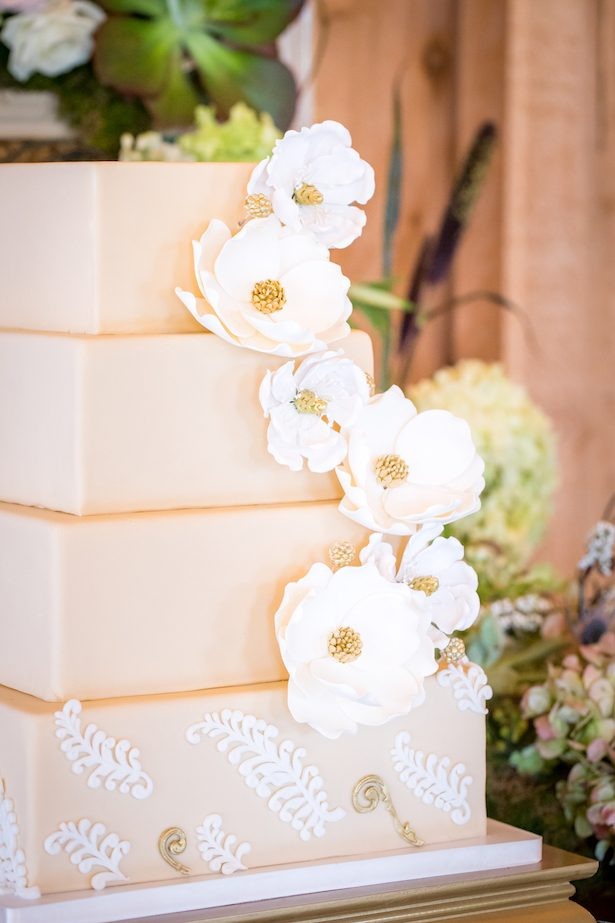 Square wedding cake - PPD Studios