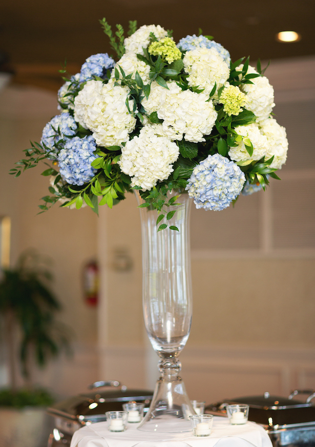 Tall floral wedding centerpiece - Sunny Lee Photography