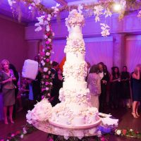 Tall wedding cake - Ace Cuervo Photography