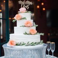 Tall wedding cake - Kiel Rucker Photography