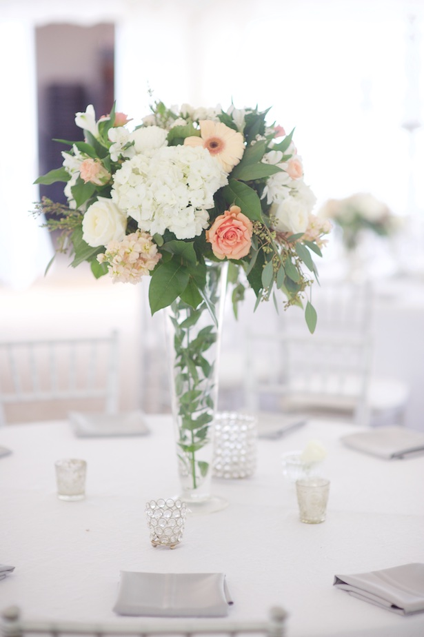 Tall wedding centerpiece - Justine Wright Photography