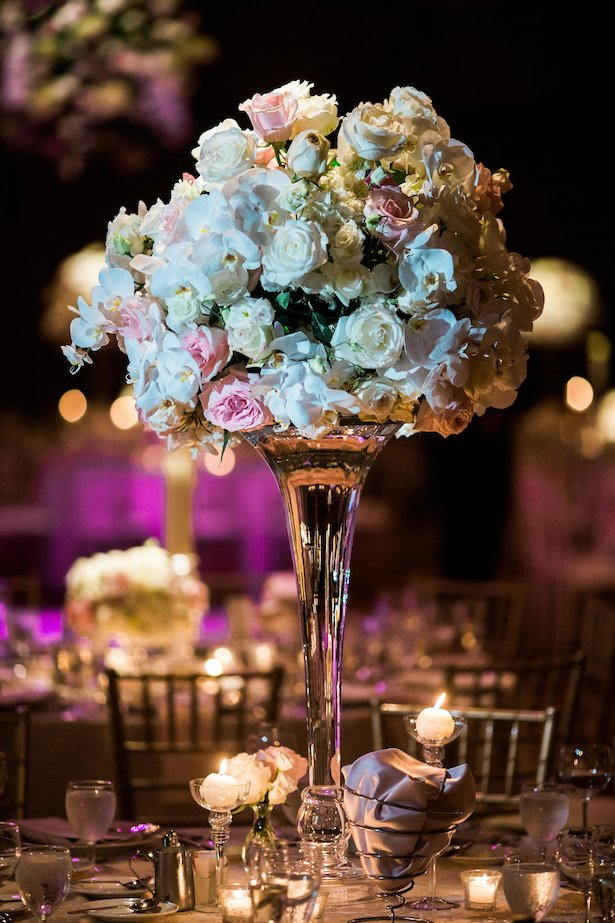 Tall wedding centerpiece - Style and Story Photography