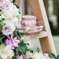 Vintage wedding cups - L'estelle Photography