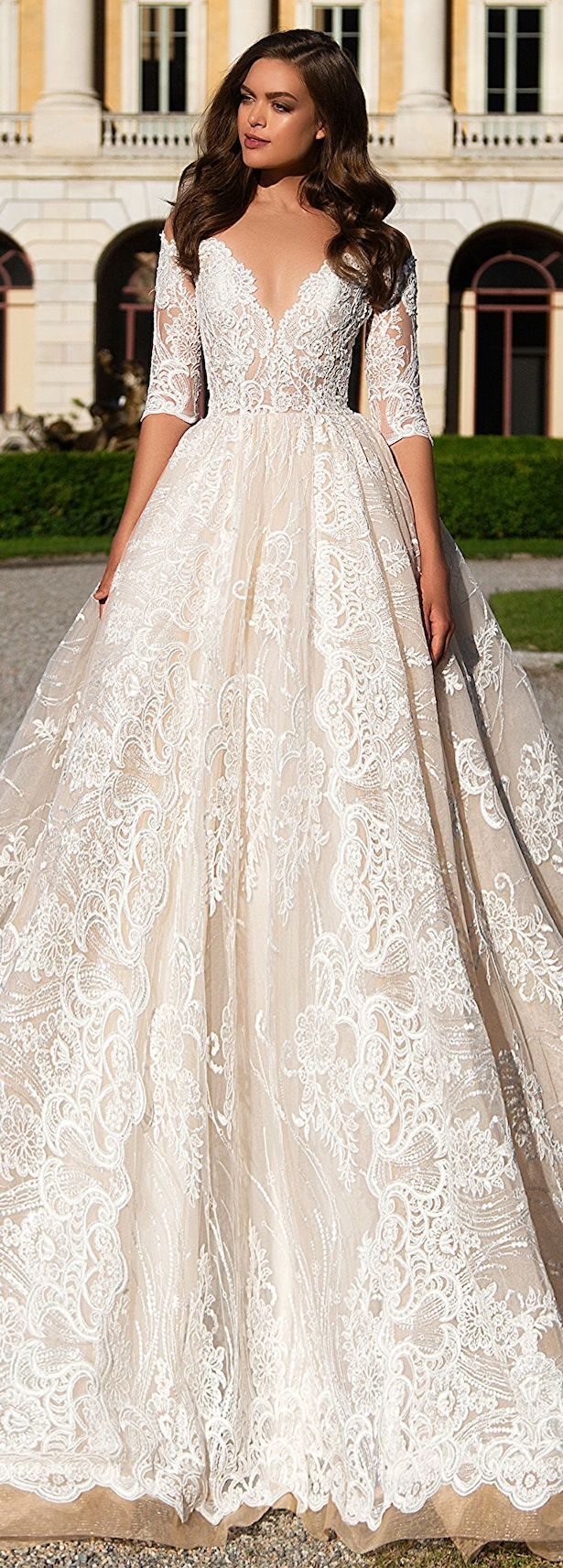 Fabulous fall wedding dresses for every type of bride wedding dress by milla nova white desire 2017 bridal collection angelina 1 junglespirit Images