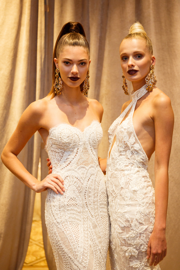Wedding Dresses by BERTA Bridal Spring 2018 runway show backstage