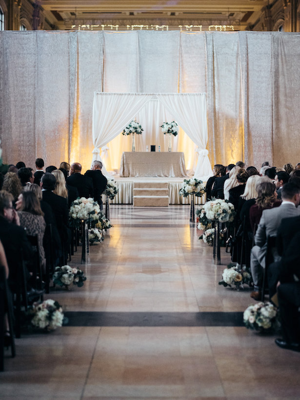 Wedding aisle decor - The WaldronPhotography