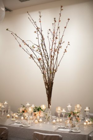 Branches Wedding centerpiece - Erin Johnson Photography