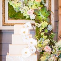 Wedding cake background - PPD Studios