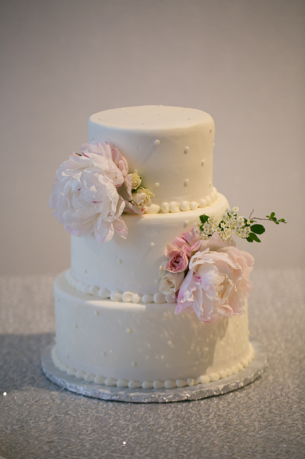 White Wedding Cake - Erin Johnson Photography