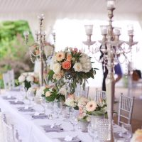 Wedding candelabra centerpiece - Justine Wright Photography