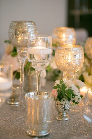 Wedding candle decor - Erin Johnson Photography