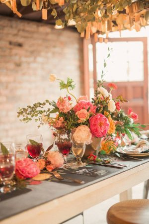 Colorful Wedding Tablescape - Gideon Photography