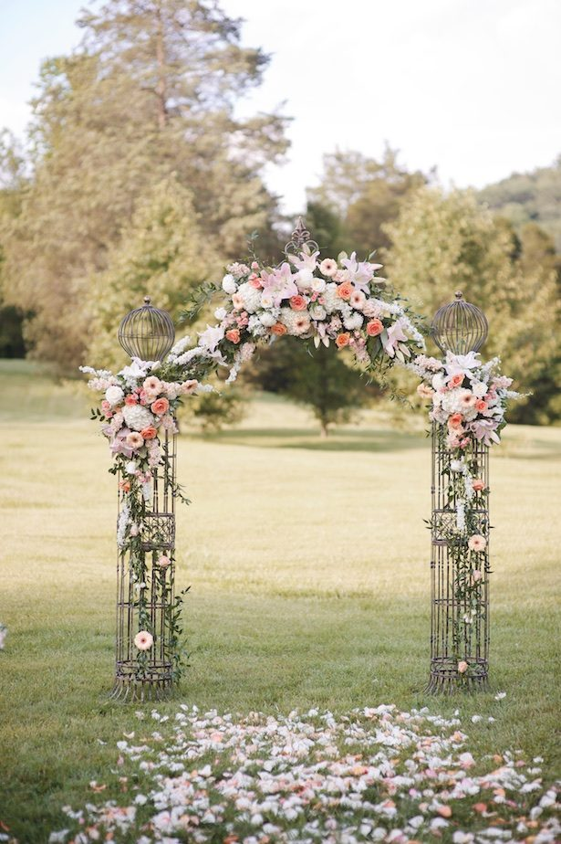 Wedding ceremony arch- Justine Wright Photography