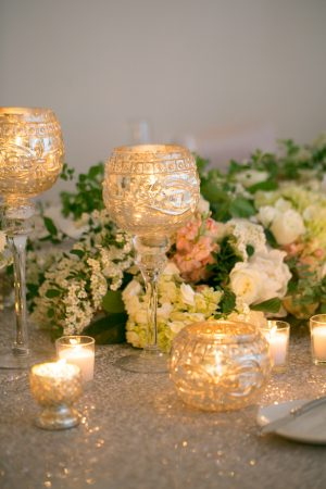 Candle Wedding Centerpiece - Erin Johnson Photography