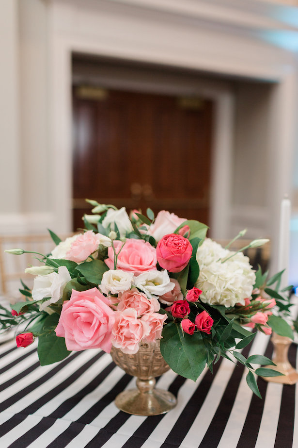 Pink wedding centerpiece - Alicia Lacey Photography