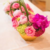 Wedding floral centerpiece - Ace Cuervo Photography