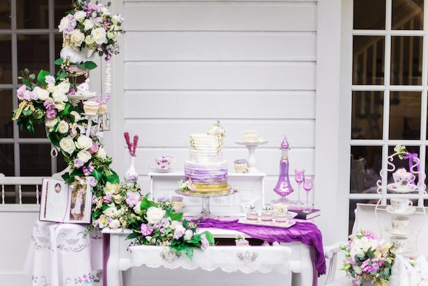 Wedding floral waterfall design - L'estelle Photography