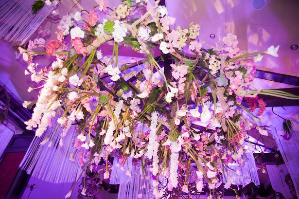 Wedding hanging floral decor - Ace Cuervo Photography