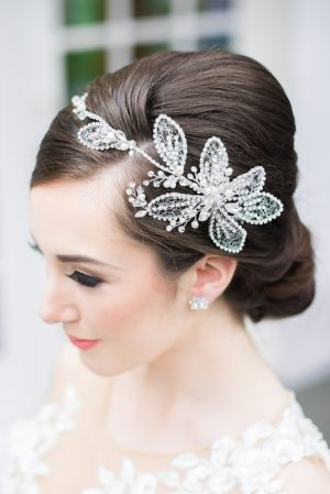 Wedding head piece - L'estelle Photography