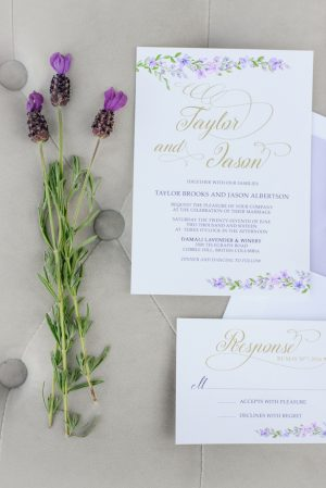 Wedding invitation - Kristen Borelli Photography