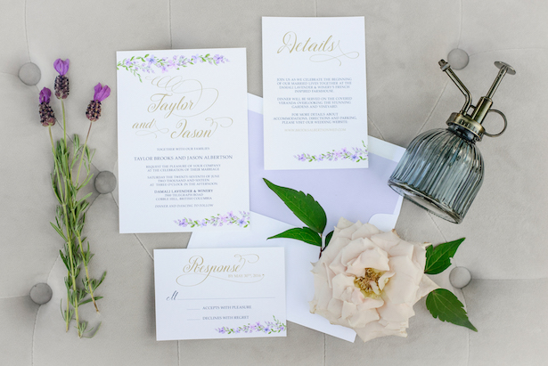 Wedding invitation suite - Kristen Borelli Photography