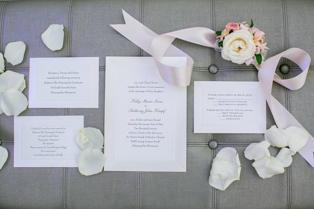 Wedding invitation suite - Erin Johnson Photography