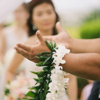 Wedding lei - Anna Kim Photography