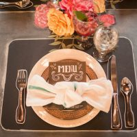 Wedding place setting - Gideon Photography