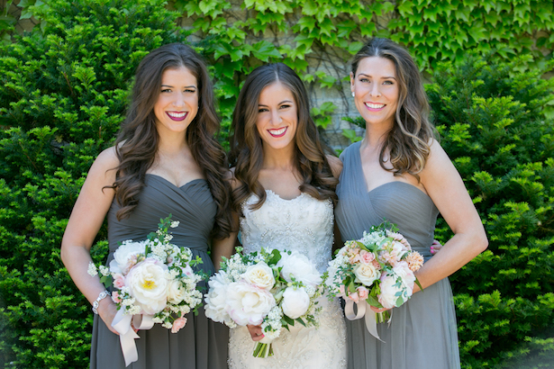 Grey Bridesmaids Dresses- Erin Johnson Photography
