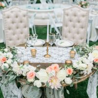 Wedding sweetheart table - Kiel Rucker Photography