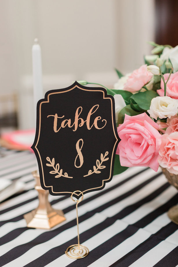 Wedding table number - Alicia Lacey Photography