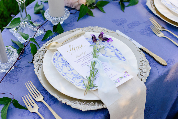 Wedding place setting - Kristen Borelli Photography