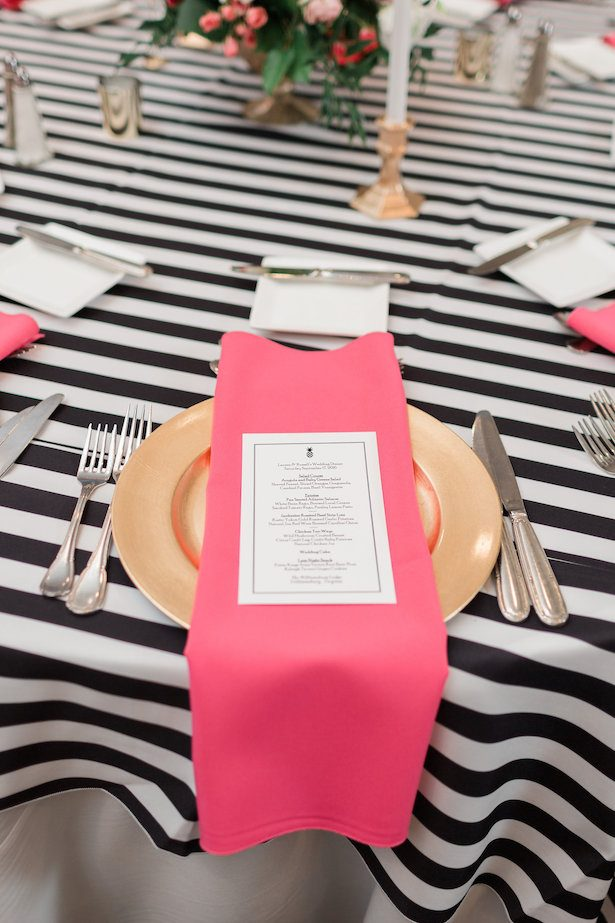 Wedding place setting – Alicia Lacey Photography