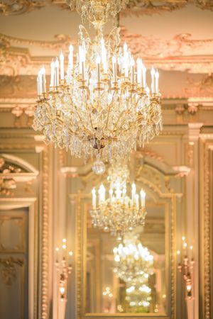 Wedding venue chandeliers - Pierre Paris Photography