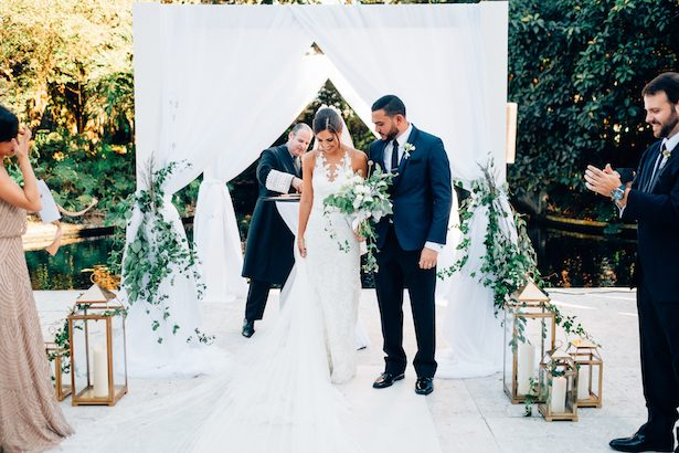 Greenery Wedding Ceremony Decor - Esteban Daniel Photography